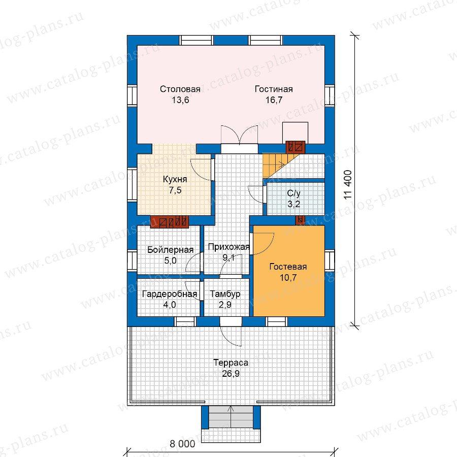 План 1-этажа проекта 59-99