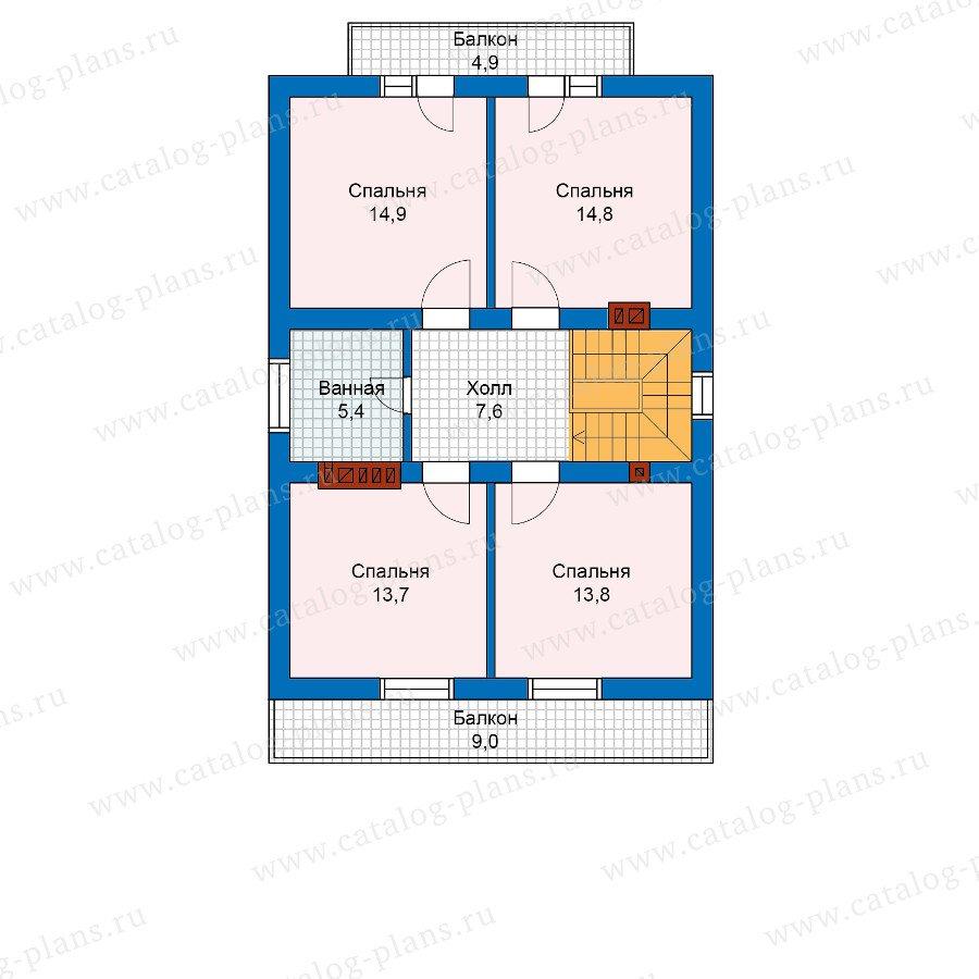 План 2-этажа проекта 59-99