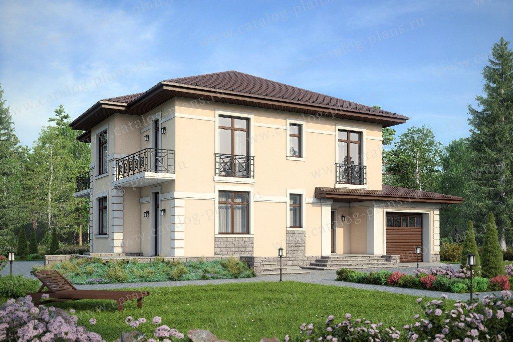 Проект жилой дом #59-88K материал - кирпич, стиль современный