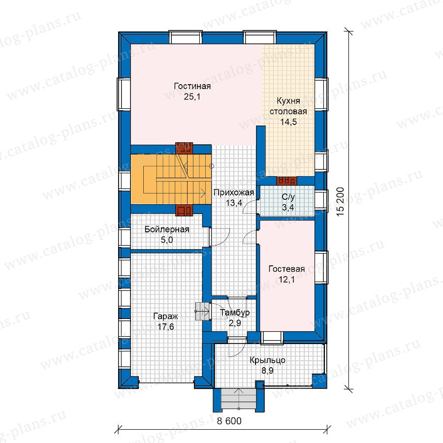 План 2-этажа проекта 59-89K