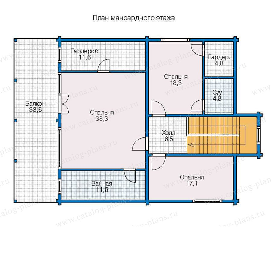 План 2-этажа проекта 13-05