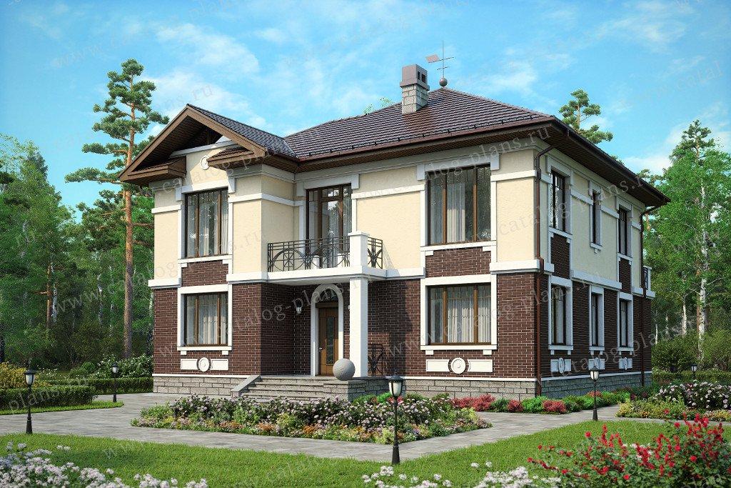 Проект жилой дом #59-95 материал - газобетон, стиль американский