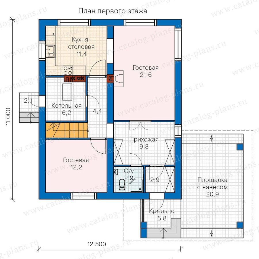 План 1-этажа проекта 60-17