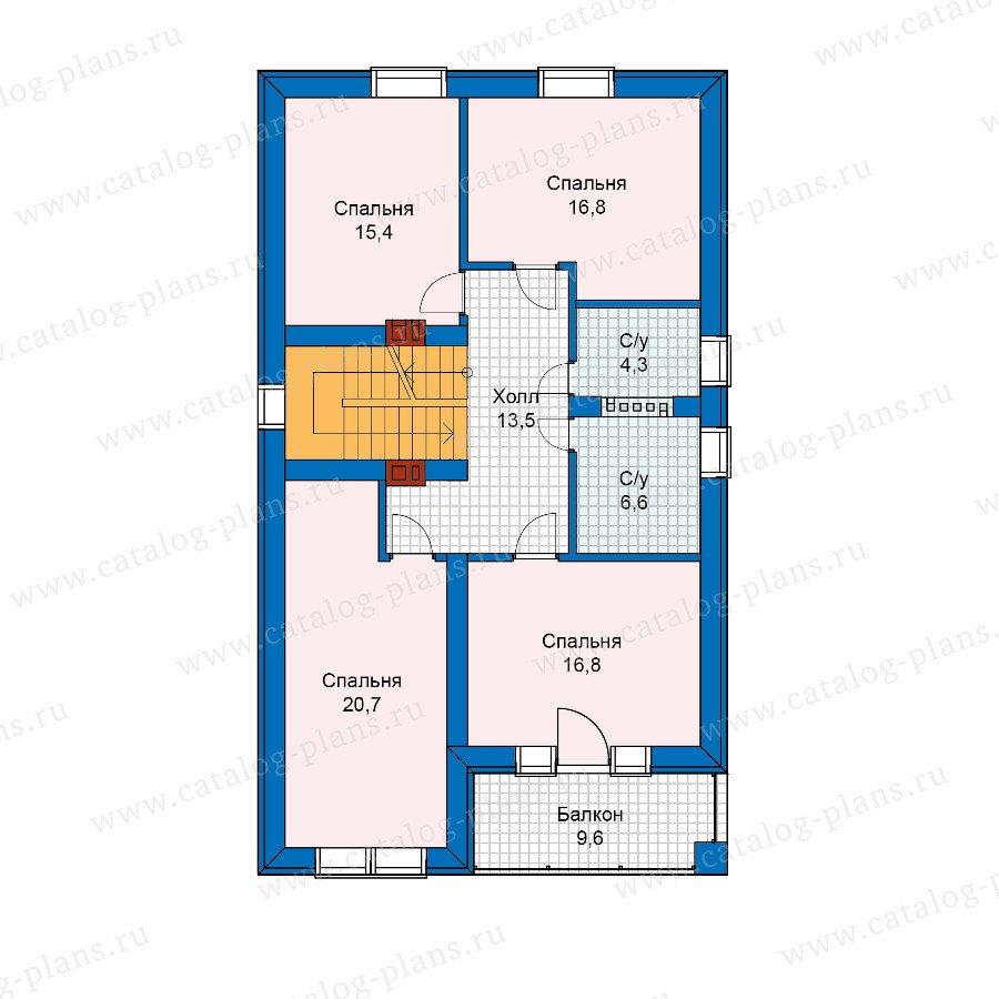 План 3-этажа проекта 59-89K