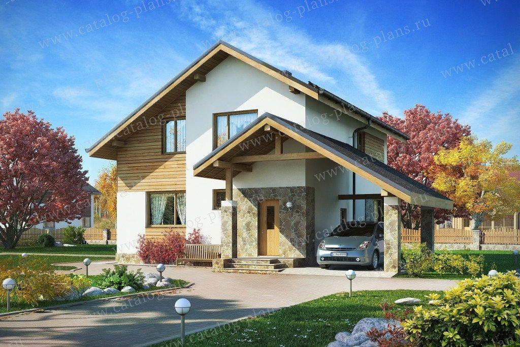 Проект жилой дом #60-17 материал - газобетон, стиль скандинавский