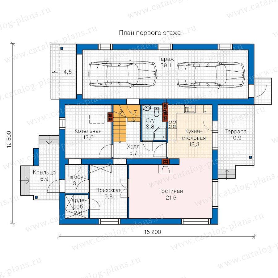 План 1-этажа проекта 60-18