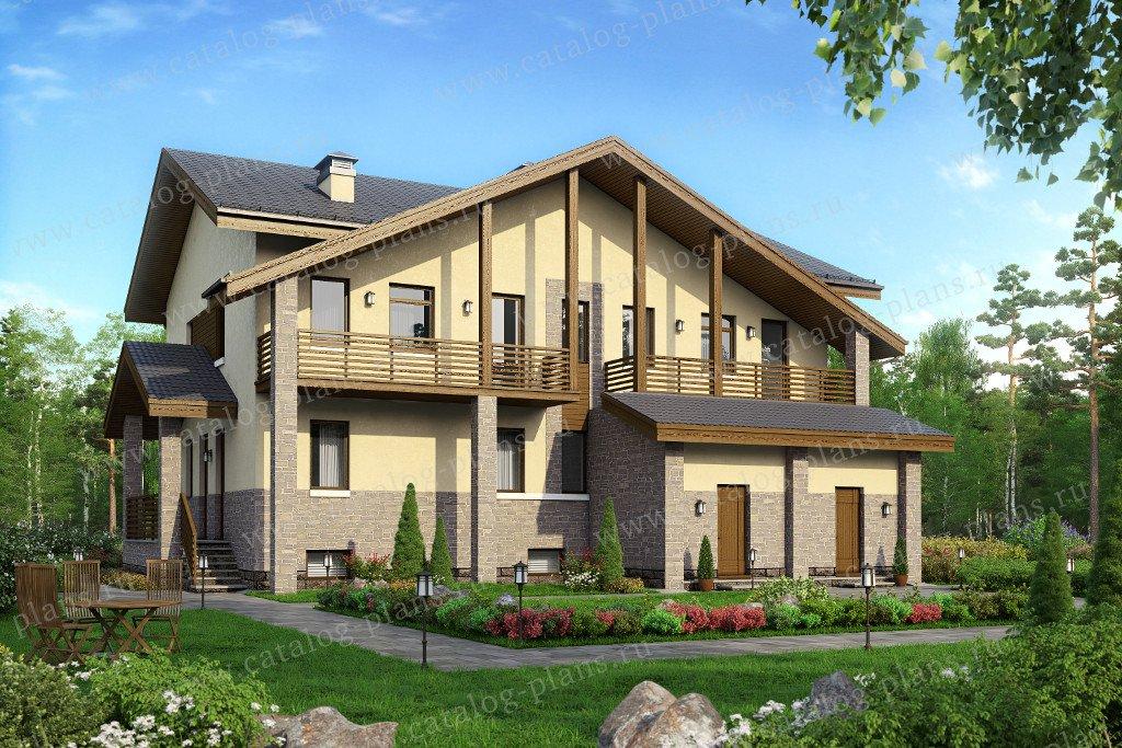 Проект жилой дом #59-91 материал - газобетон, стиль современный