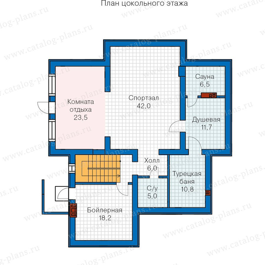 План 1-этажа проекта 59-86