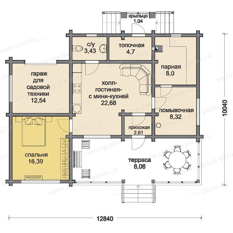 План 1-этажа проекта 13-09