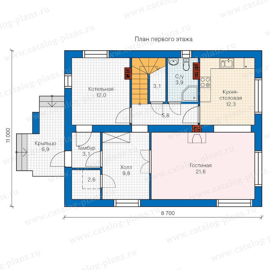 План 1-этажа проекта 60-16
