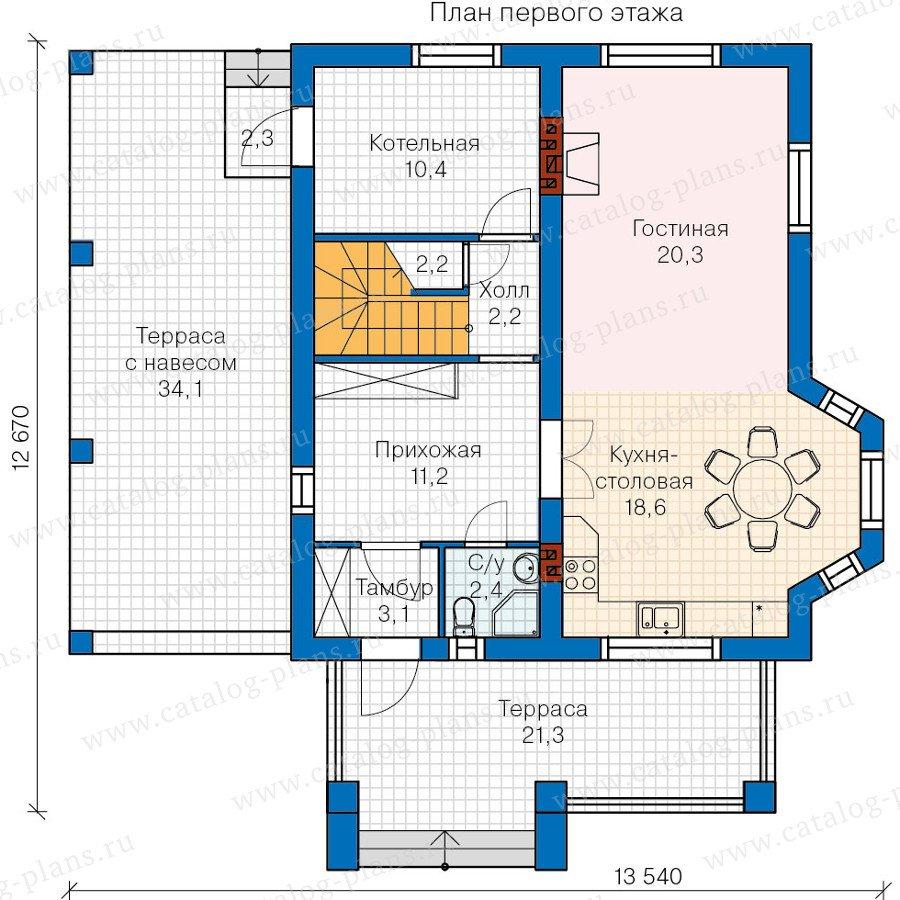 План 1-этажа проекта 60-11