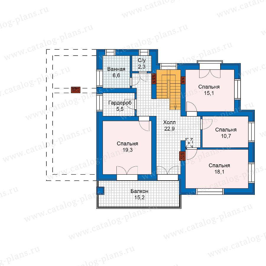 План 2-этажа проекта 59-96K