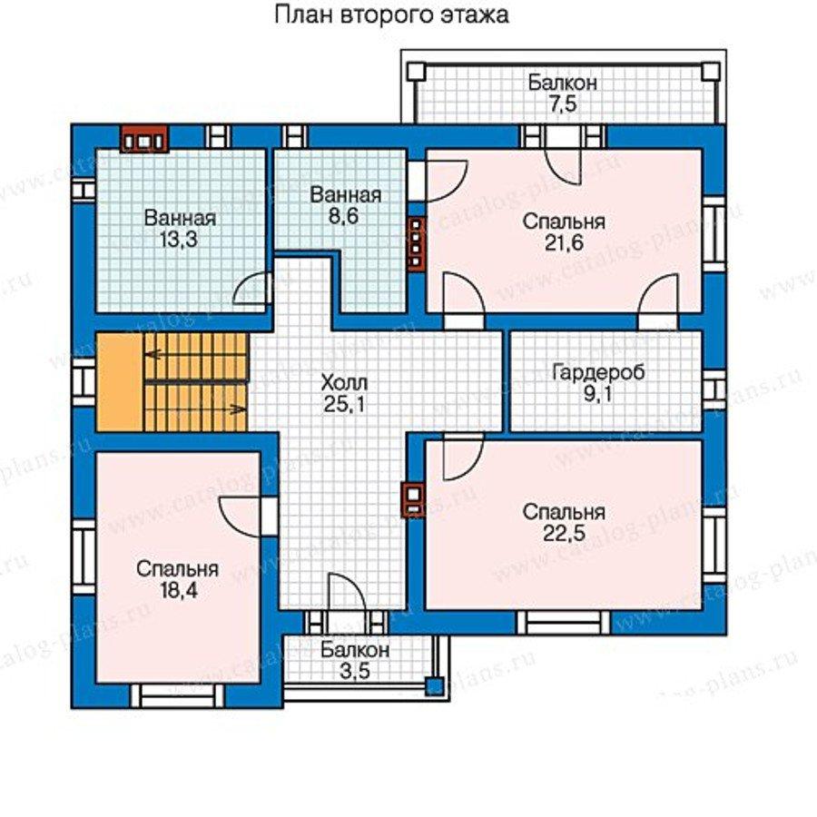 План 2-этажа проекта 59-95BKL
