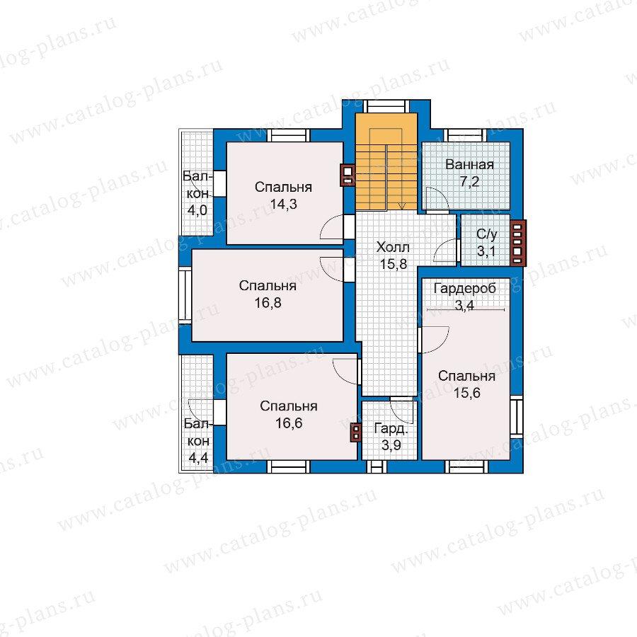 План 2-этажа проекта 59-88K