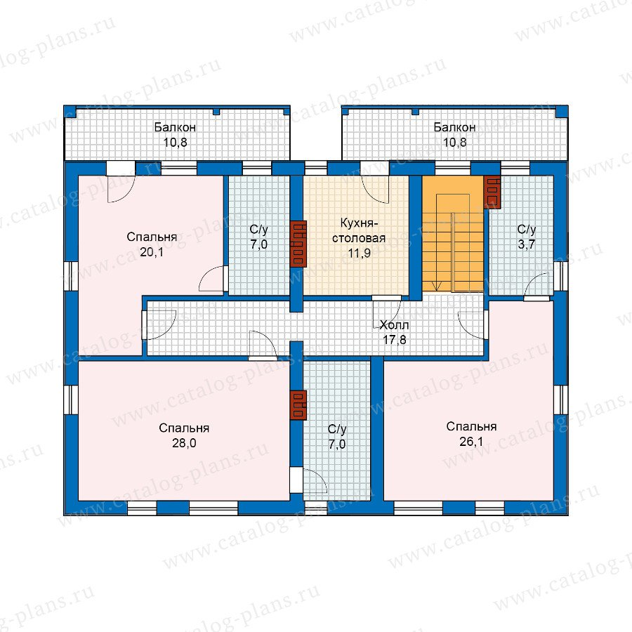 План 3-этажа проекта 59-91
