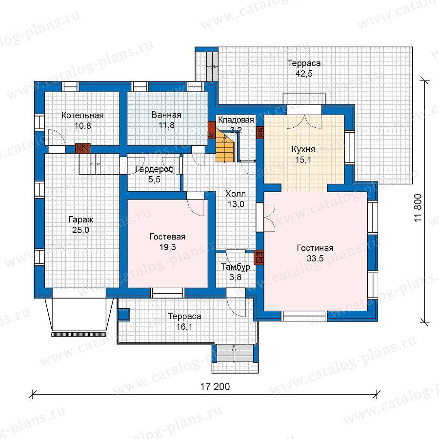 План 1-этажа проекта 59-96K