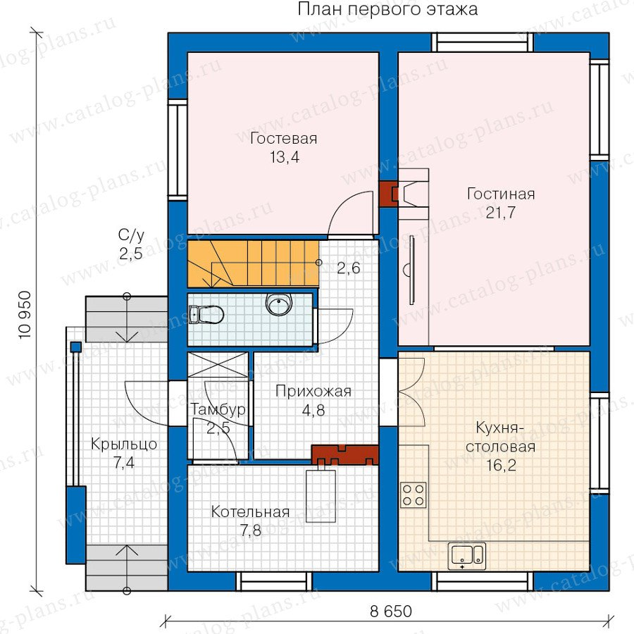 План 1-этажа проекта 60-15