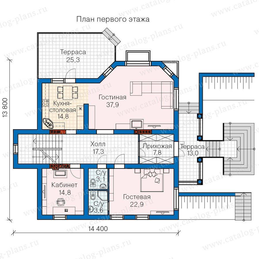 План 2-этажа проекта 60-13
