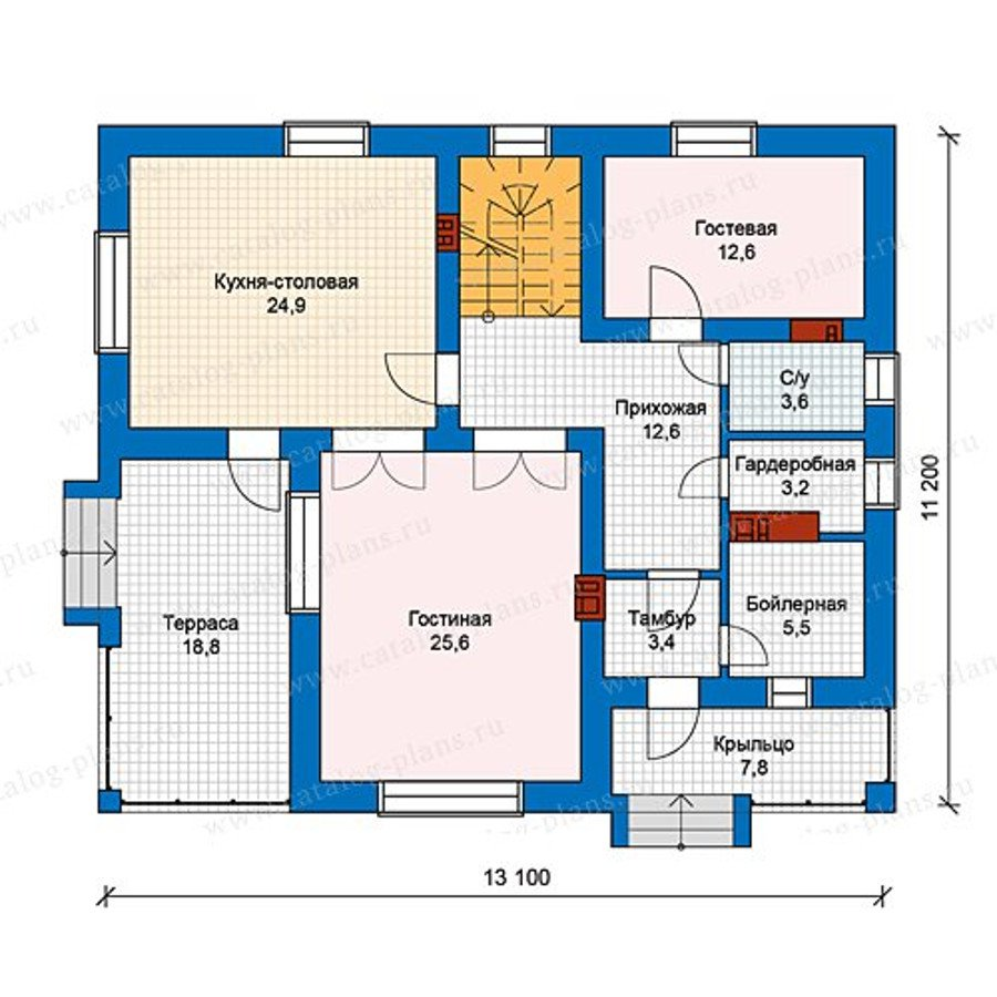 План 1-этажа проекта 59-84L