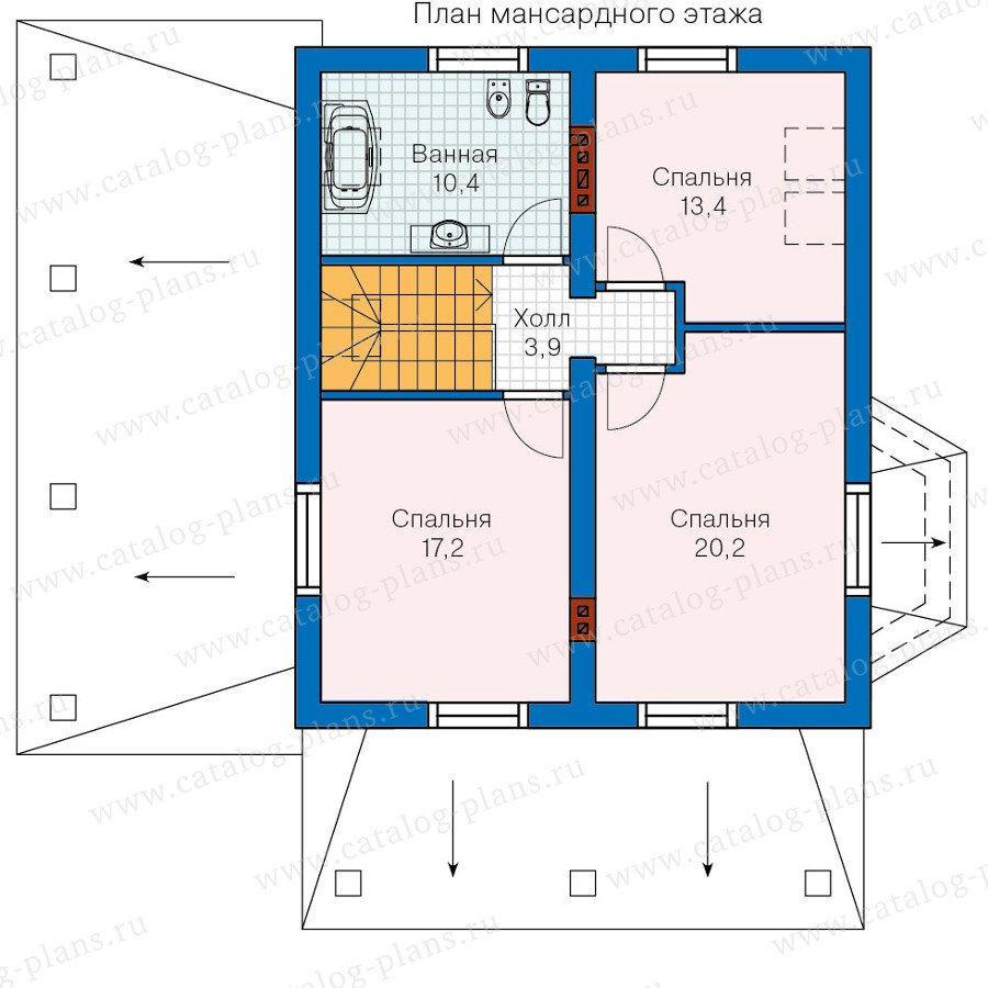 План 2-этажа проекта 60-11