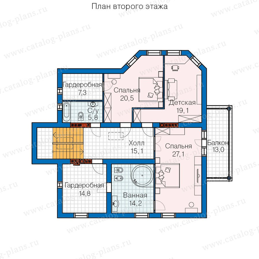 План 3-этажа проекта 60-13