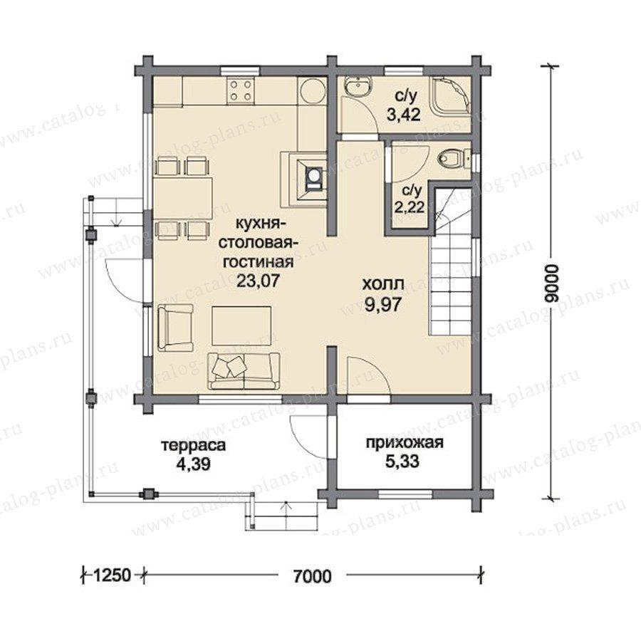План 1-этажа проекта 13-10