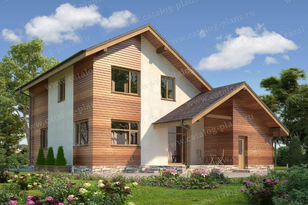 Проект жилой дом #60-18 материал - газобетон, стиль современный