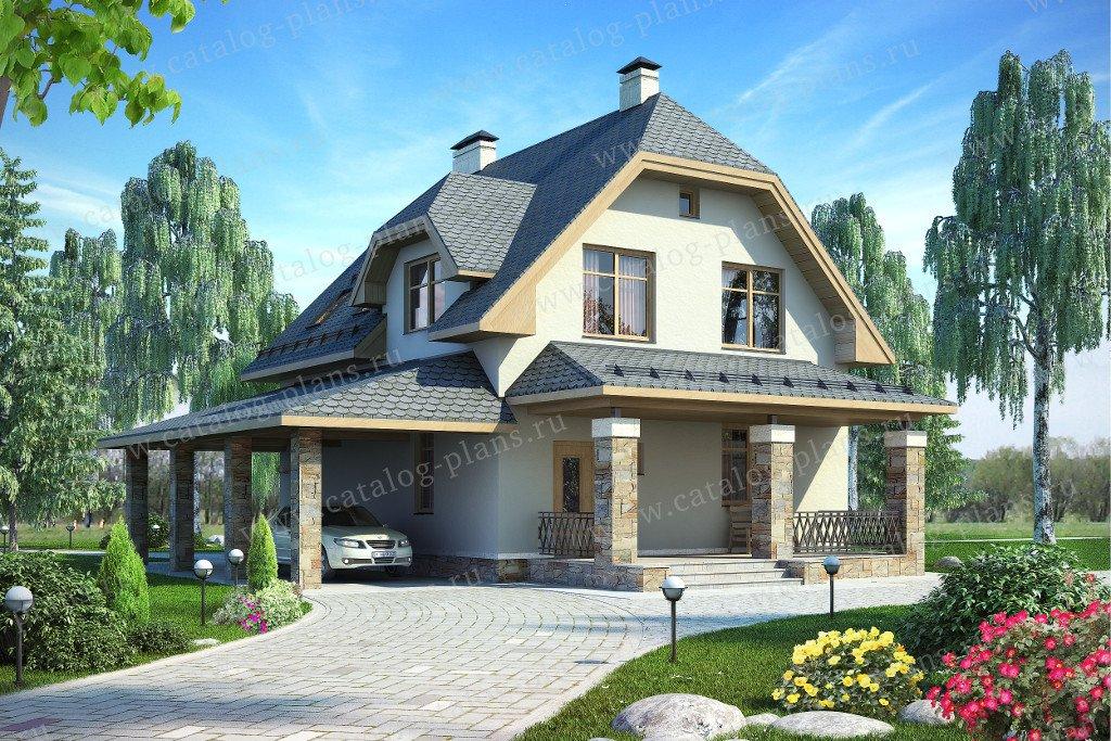Проект жилой дом #60-11 материал - газобетон, стиль немецкий