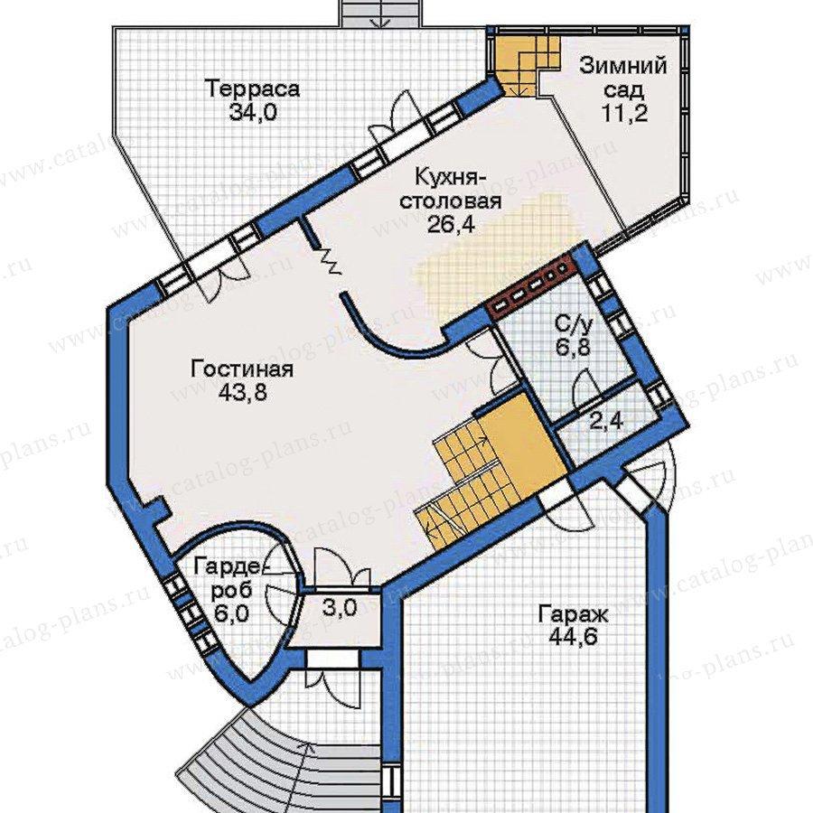 План 2-этажа проекта 32-24