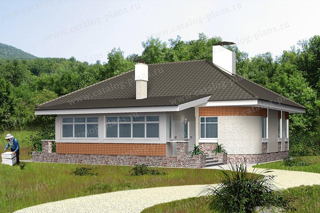 Проект жилой дом #32-28 материал - кирпич, стиль европейский