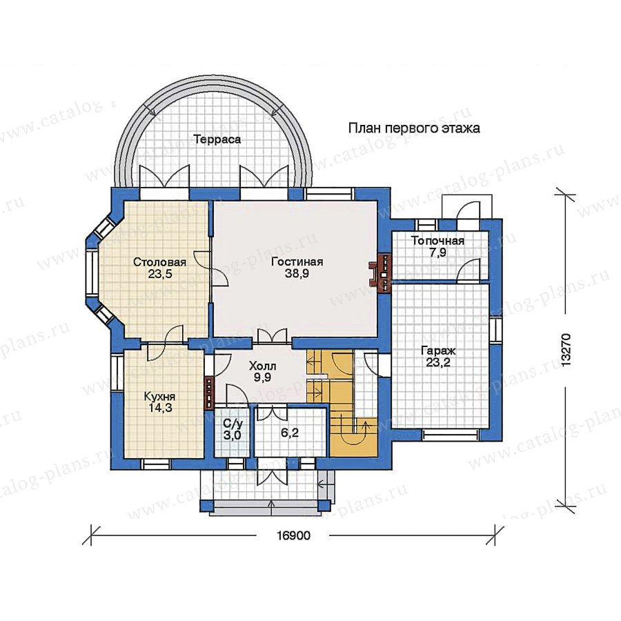 План 1-этажа проекта 32-10