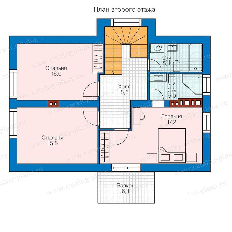 План 2-этажа проекта 58-39K