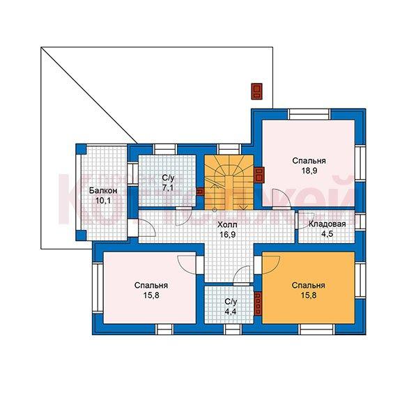 План 2-этажа проекта 59-93