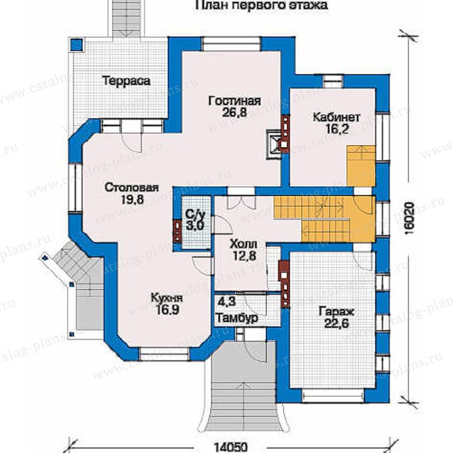 План 2-этажа проекта 32-00