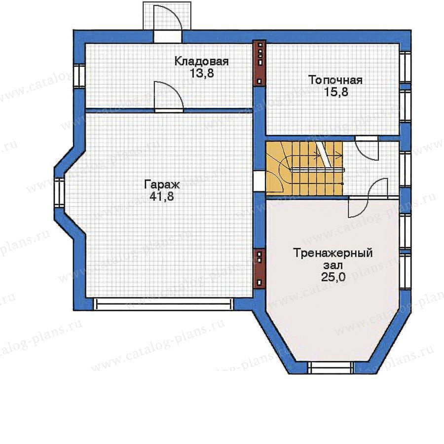 План 1-этажа проекта 32-21