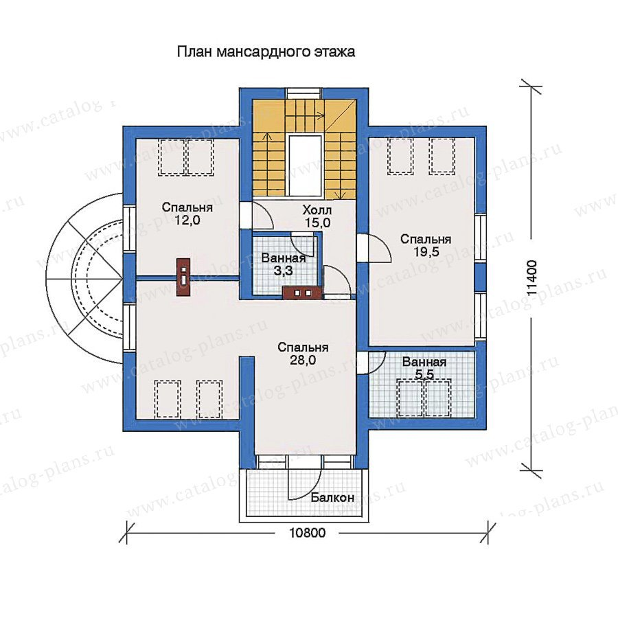 План 2-этажа проекта 32-29