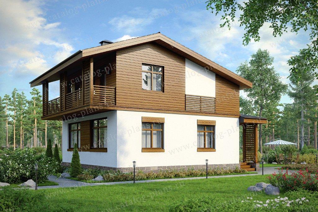 Проект жилой дом #59-81K материал - кирпич, стиль современный