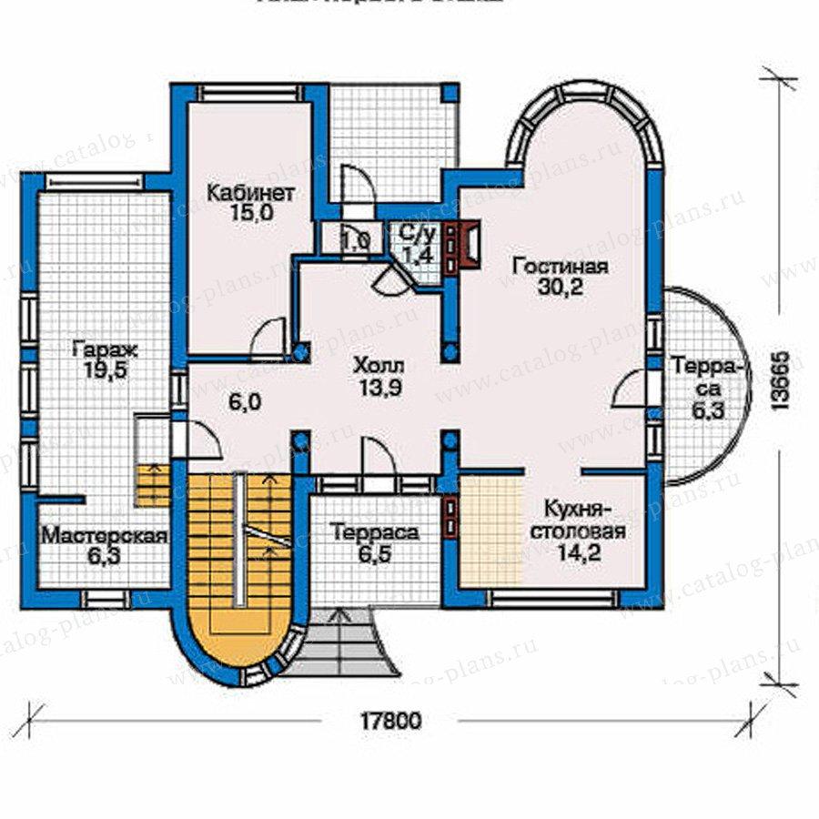 План 2-этажа проекта 32-08