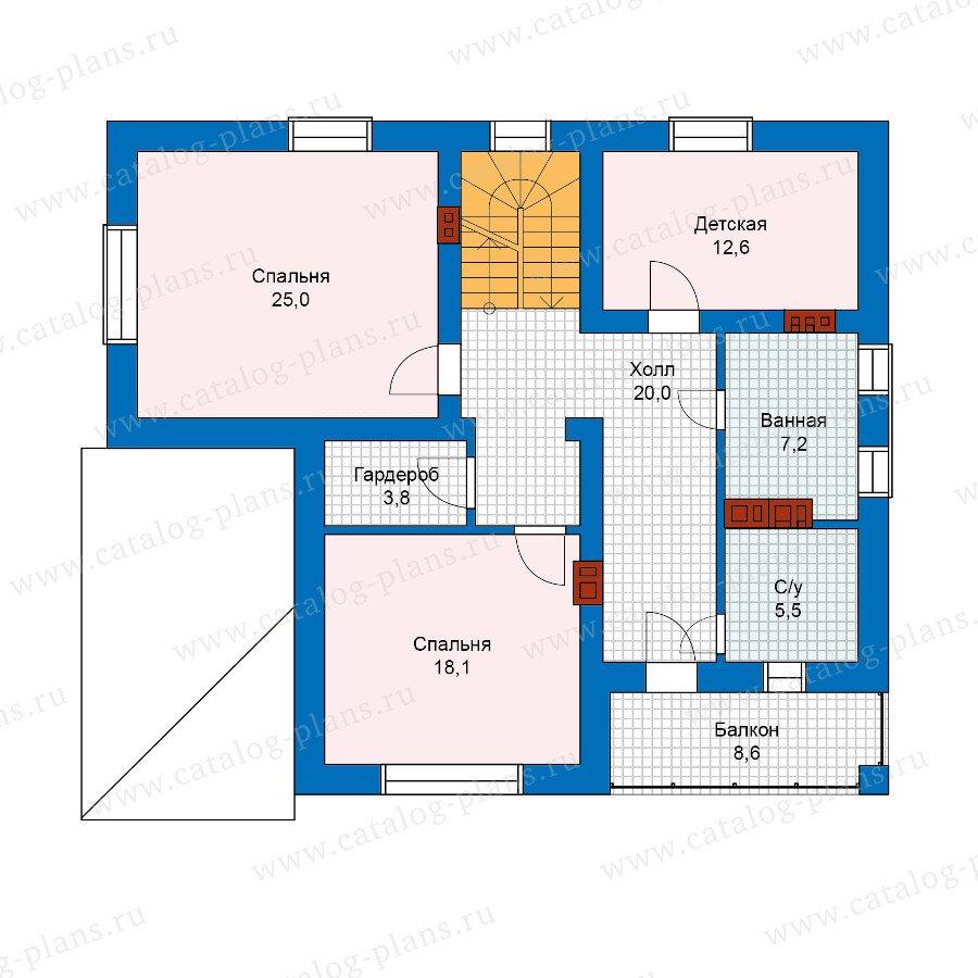 План 2-этажа проекта 59-84K