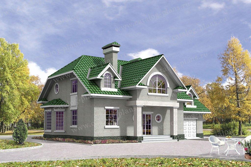 Проект жилой дом #32-10 материал - кирпич, стиль американский