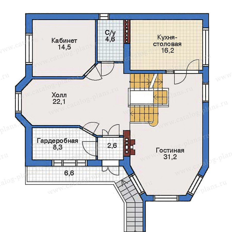 План 2-этажа проекта 32-21
