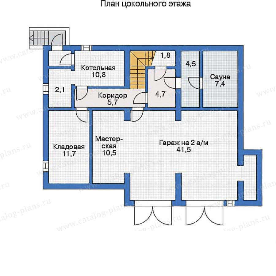 План 1-этажа проекта 32-07