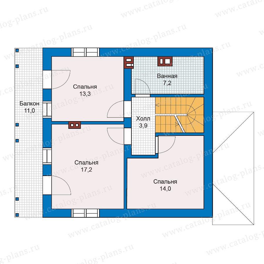План 2-этажа проекта 59-81K
