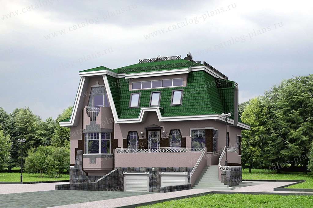 Проект жилой дом #32-07 материал - кирпич, стиль северный