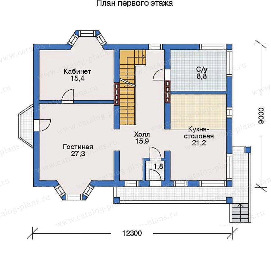 План 2-этажа проекта 32-07
