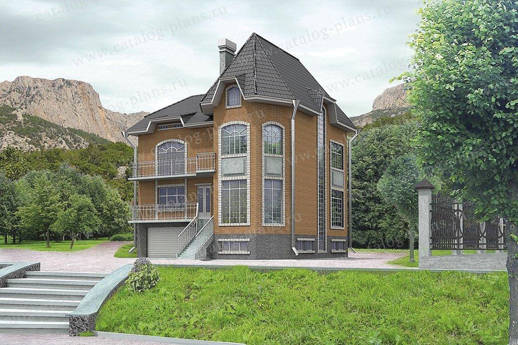 Проект жилой дом #32-21 материал - кирпич, стиль европейский