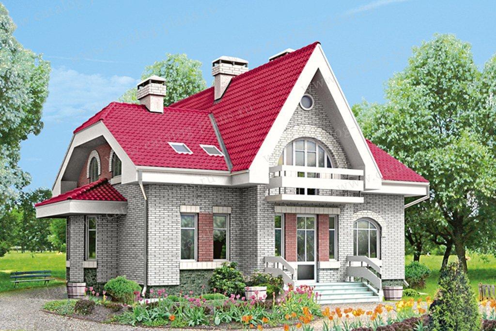 Проект жилой дом #32-29 материал - кирпич, стиль европейский