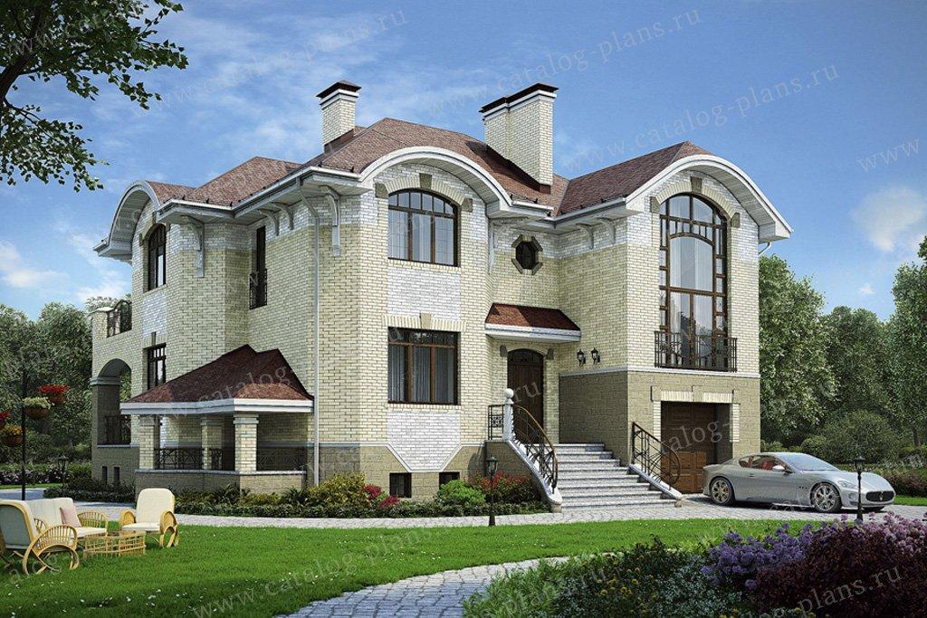 Проект жилой дом #32-00 материал - кирпич, стиль модерн