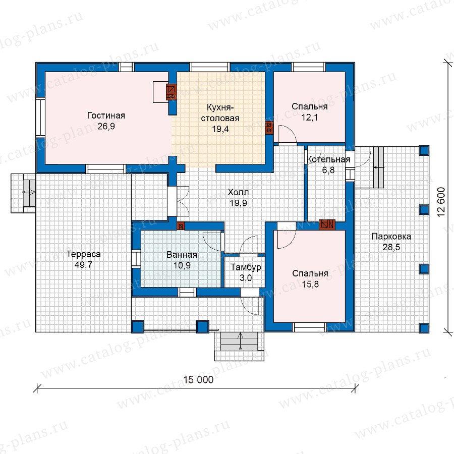 План 1-этажа проекта 59-87K