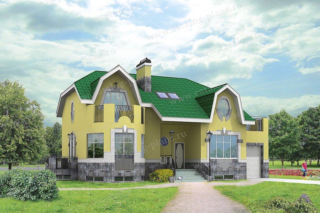 Проект жилой дом #32-08 материал - кирпич, стиль классический